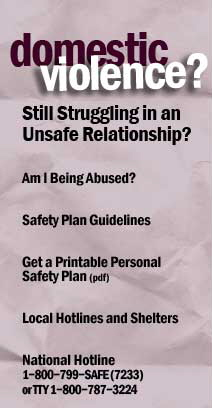 "Domestic Violence Check List - ""Am I Being Abused?"""